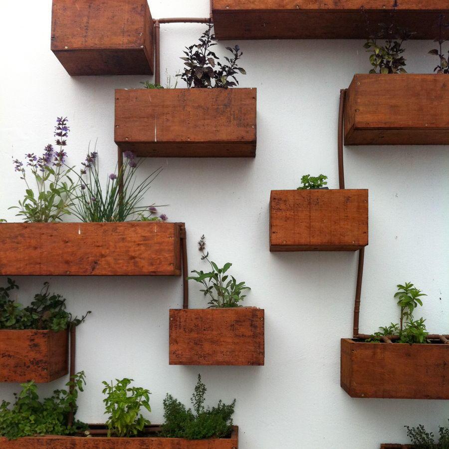 jardín vertical del balcones